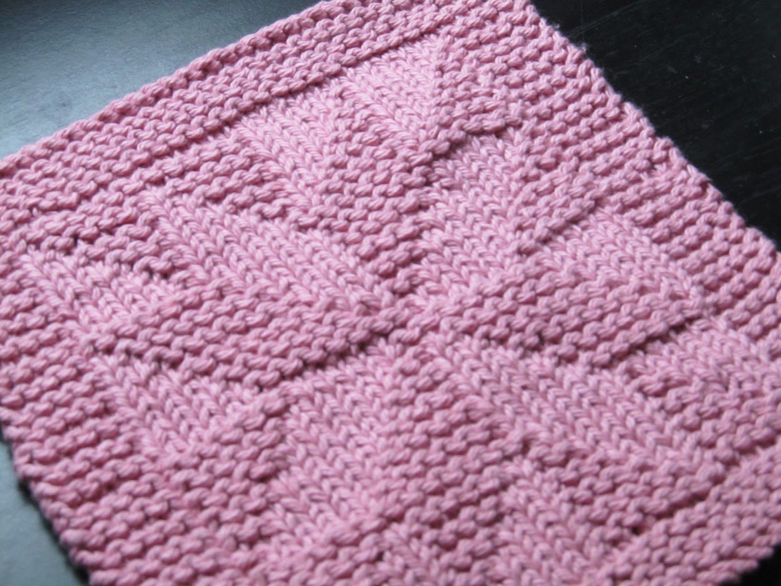 dishcloth knitting patterns with pictures | Free dishcloth pattern ...