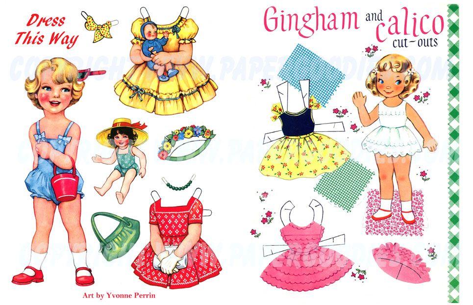 (⑅ ॣ•͈ᴗ•͈ ॣ)♡                                                             ✄2 PD Art Prints, frameable. Dress, Gingham