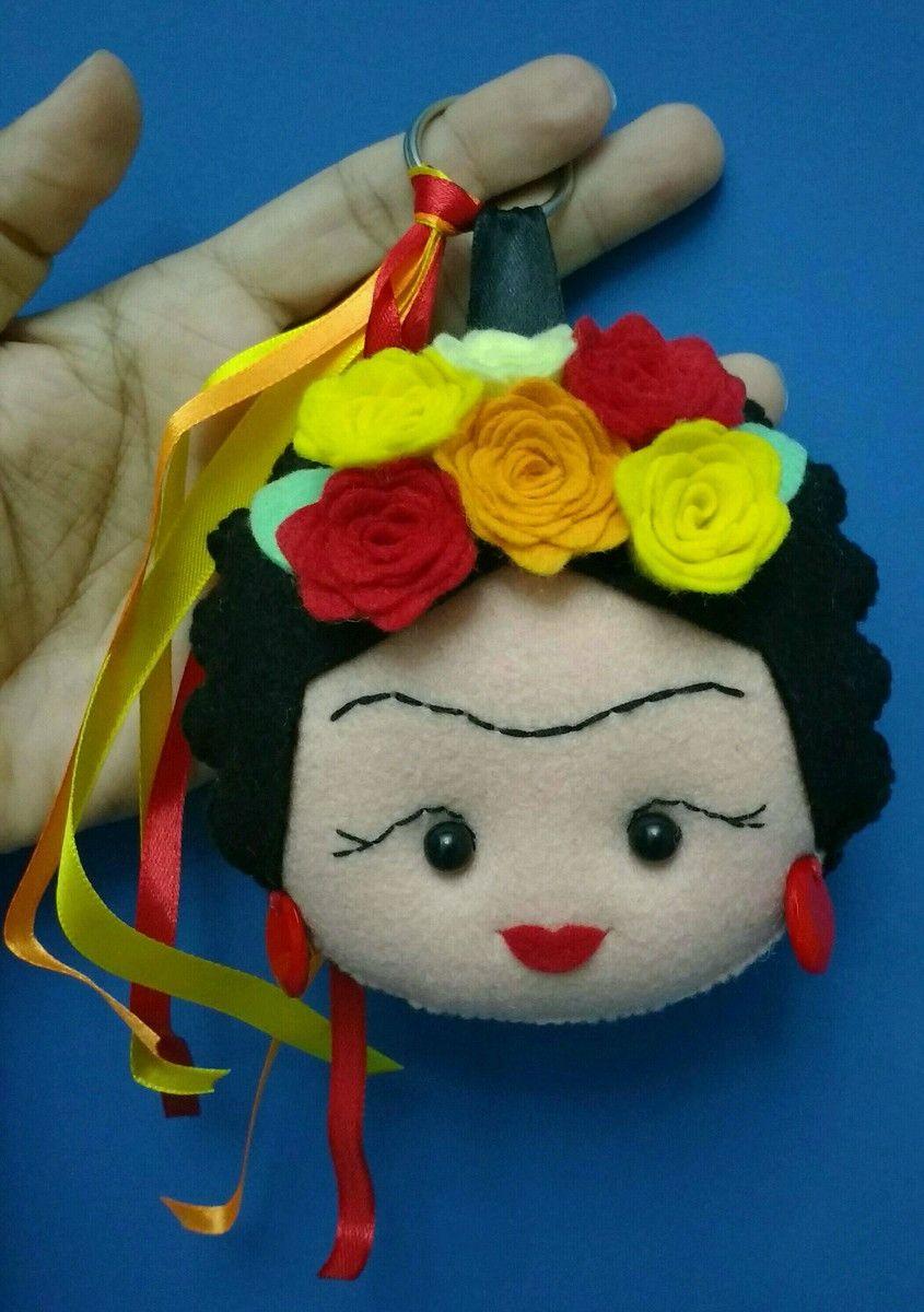 8fe56cdbbc Max chaveiro Frida Kahlo no Elo7