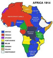 This map shows imperialism in Africa   1885 1914. The map tells us