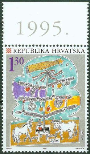 Croatia-1995-Christmas-Donkey-Ox-Mi-353-MNH-ref-b