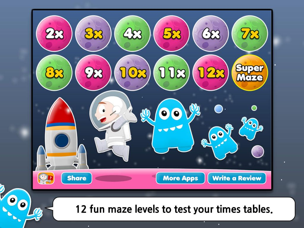 Math Maze Times Tables Hd One Of The Most Fun Times Table Teaching Amp Learning Ipad Apps