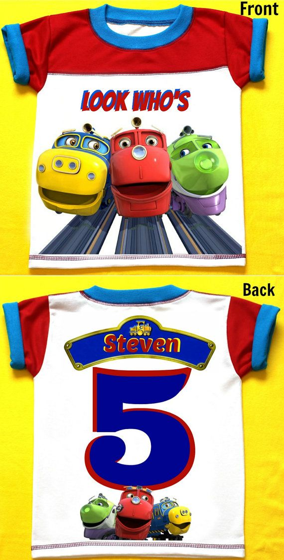 Chuggington The Train Birthday Shirt Personalized 12 Months 18 2T3T4T5T6T Personalization Is Included At No Additional Cost