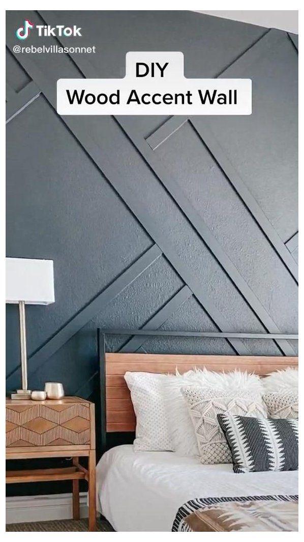 stencil design wall bedroom