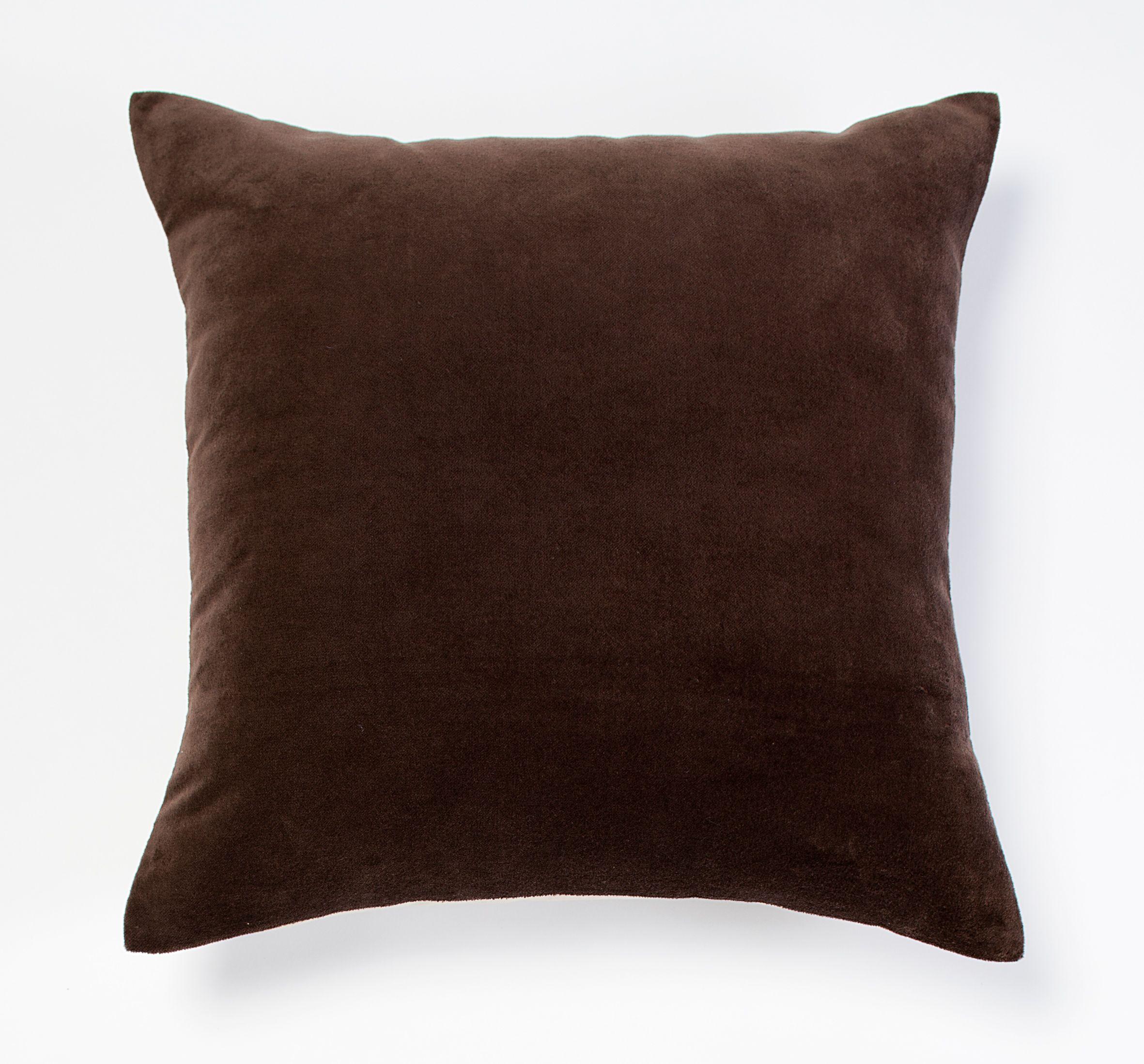 Morris velvet cushion - chocolate