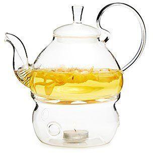 Glass Teapot & Warmer (ad)