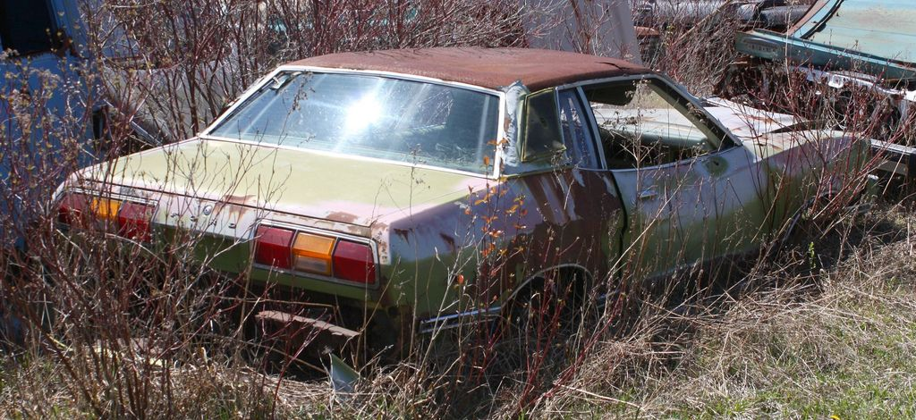 1974 Mustang Ghia Mustang, Abandoned cars, Old cars