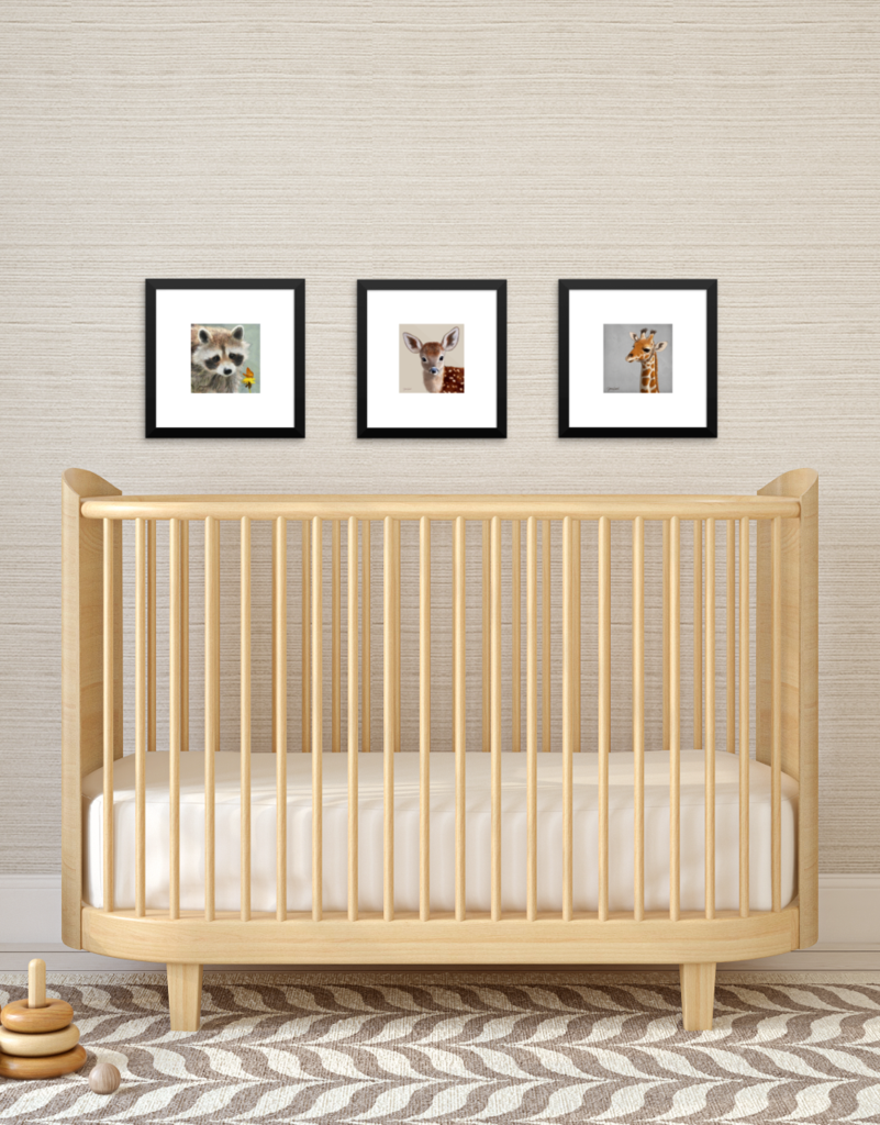 Bedroom 10x10 Size: Baby Giraffe Framed Mini-print, Perfect For A Nursery Or