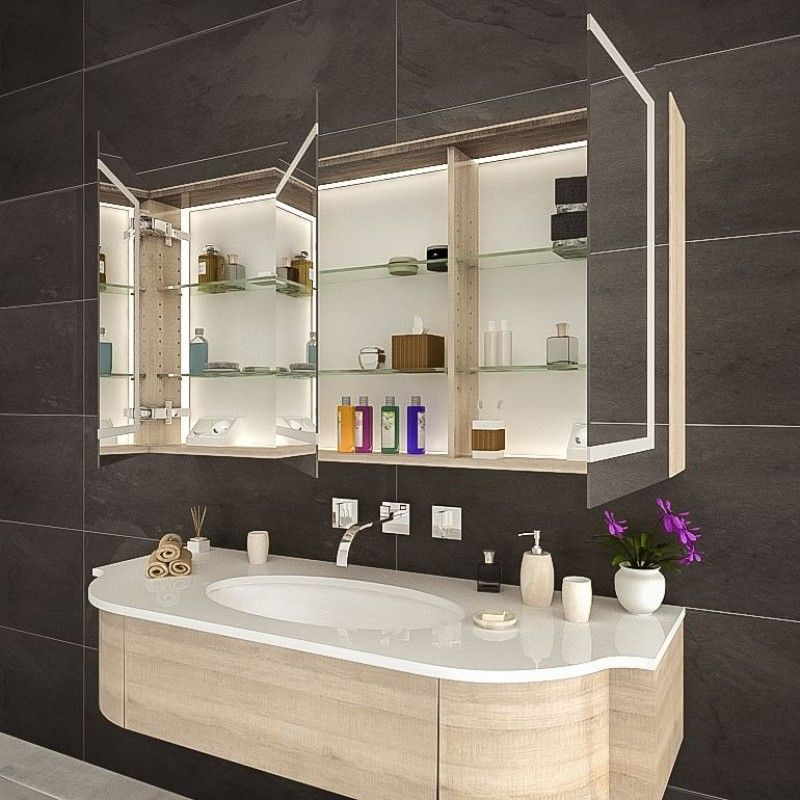 Spiegelschrank Fur Das Bad Mit Led El Paso In 2020 Badezimmer Spiegelschrank Spiegelschrank Und Spiegelschranke Furs Bad