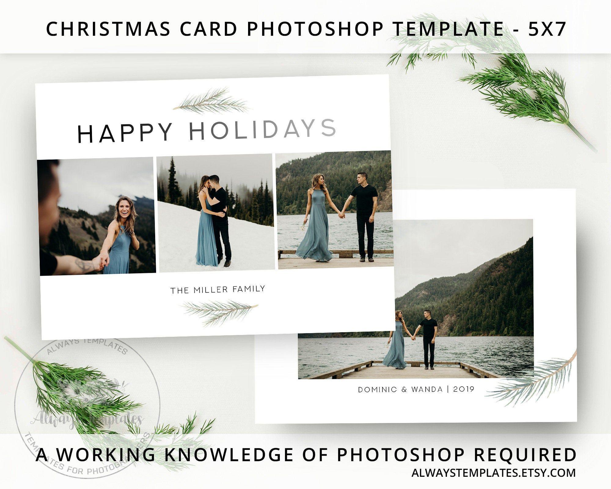 Christmas Card Template Photo Christmas Card Template Holiday Card Template Photoshop Christmas Card Template Psd Template 5x7 Card Photoshop Christmas Card Template Christmas Card Template Holiday Card Template