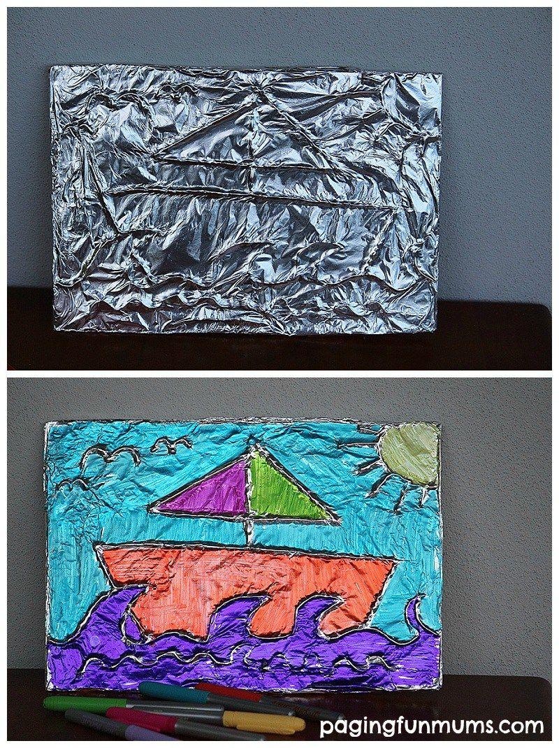 Textured Tin Foil Art Aluminium Tin Foil Art Foil Art Et Art