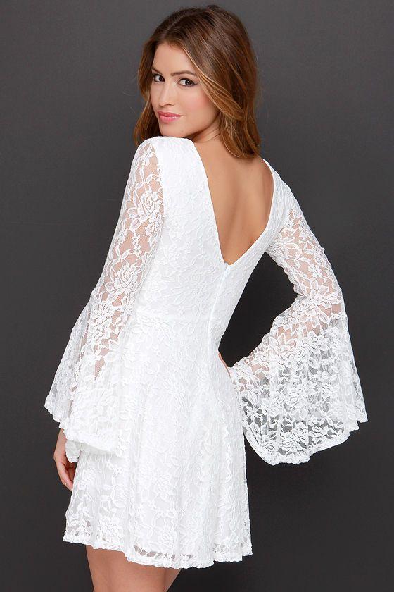 Imagine the Best White Lace Dress at Lulus.com!