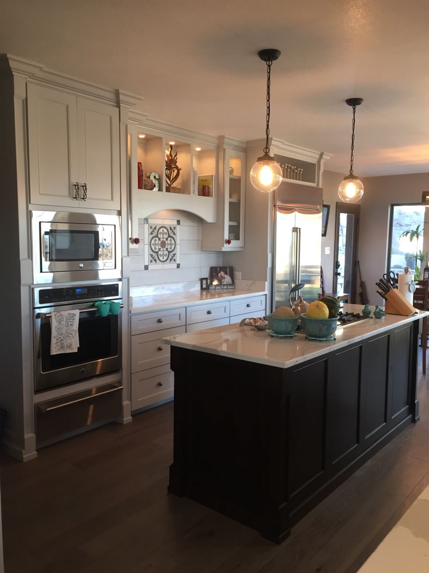 Custom Kitchen With Cambria Brittanicca Countertops, Ann Sacks Yakisugi  Shiro Field Tile And Madrona Brighton