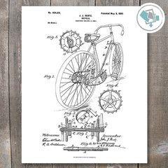 Bicycle Patent Print