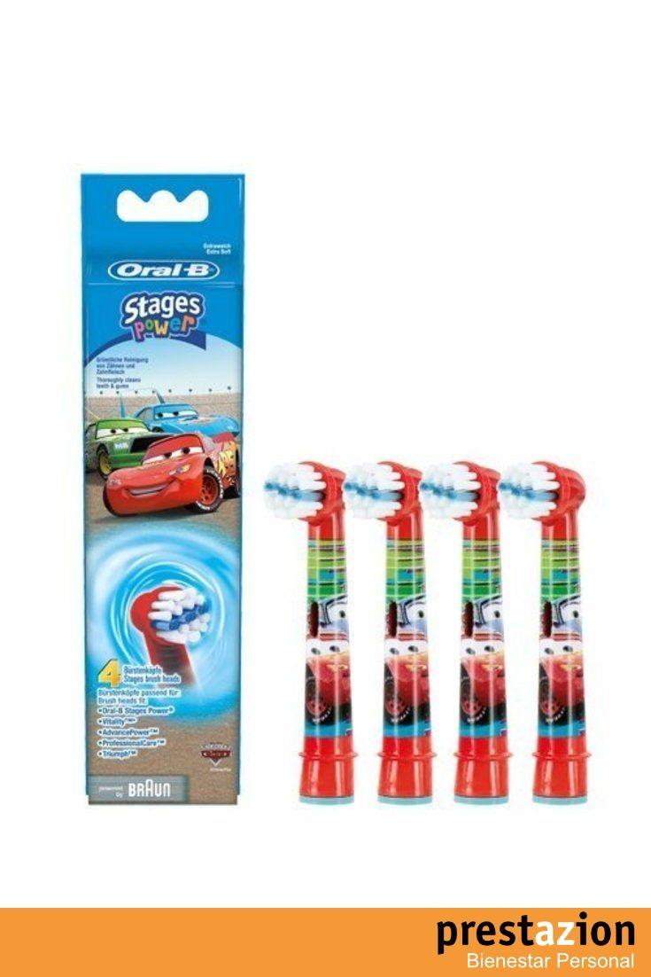 braun oral b stages power kids eb10 4k cabezales para cepillo de dientes  electrico para niños (4 unidades) diseño de cars 41cef177c6f8