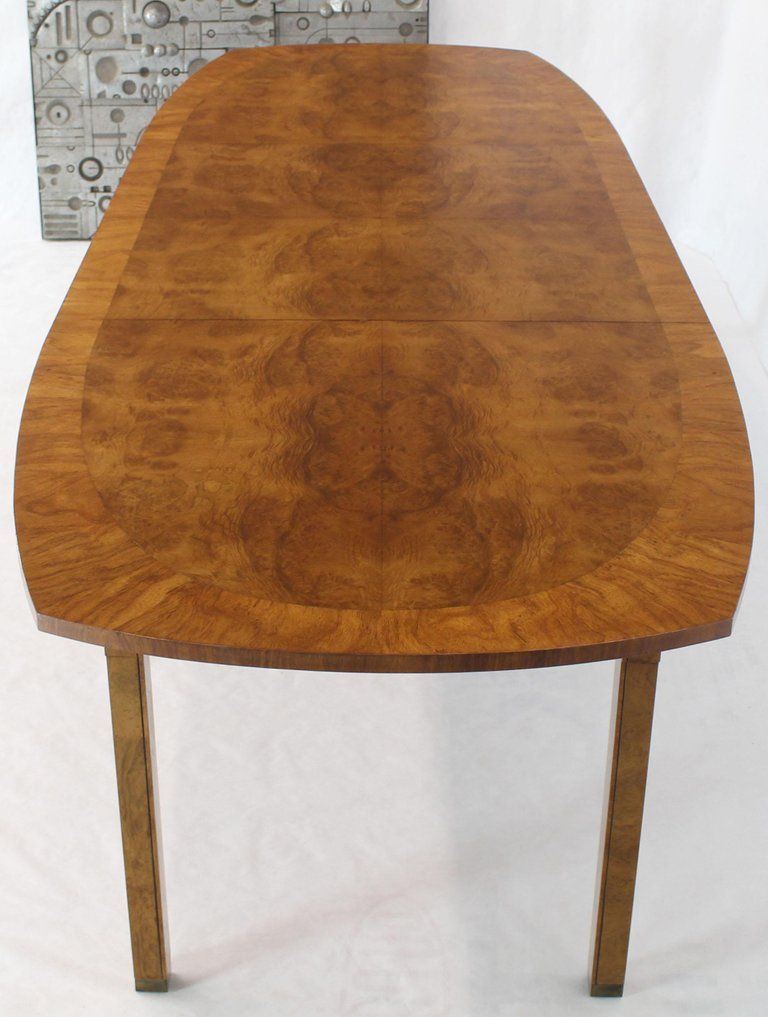 Light Profile Base Mid Century Modern Dining Table With 2 X