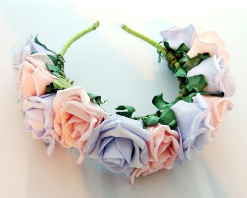 Diy floral headband tutorial a hairband some ribbon glue diy floral headband tutorial a hairband some ribbon glue scissors and some wired artificial flowers you can get them from florists or craft shops mightylinksfo