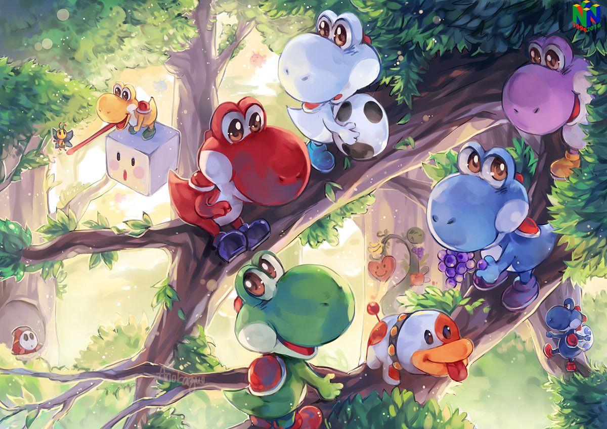 Yoshi's Story Nintendo 64 Tribute on Game-Art-HQ by Anokazue