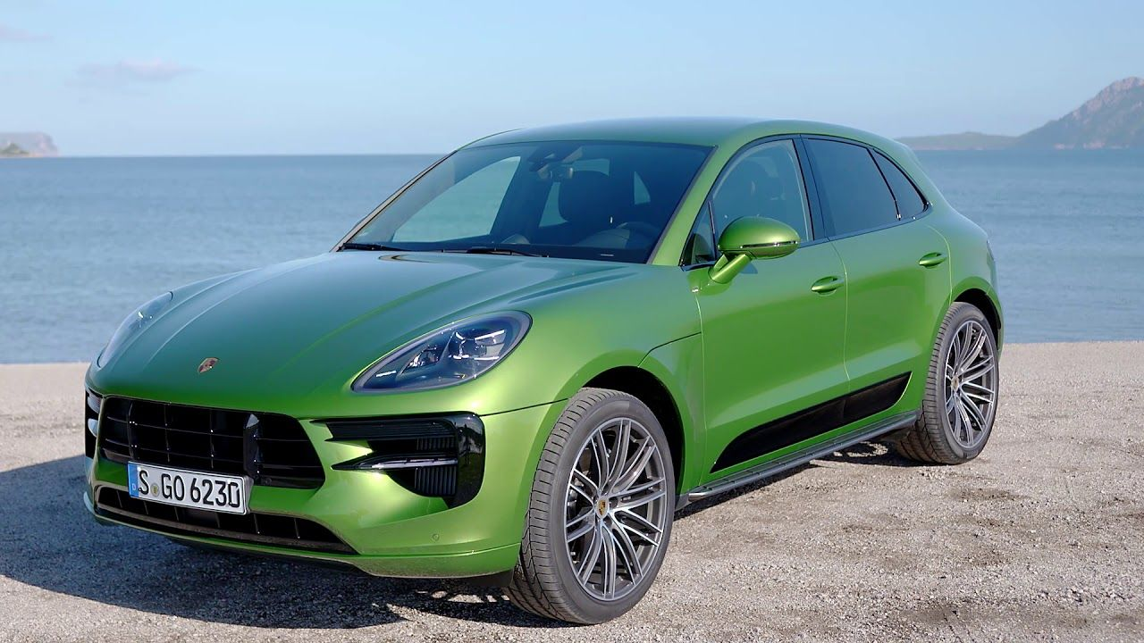 2019 Porsche Macan S Mamba Green Metallic footage