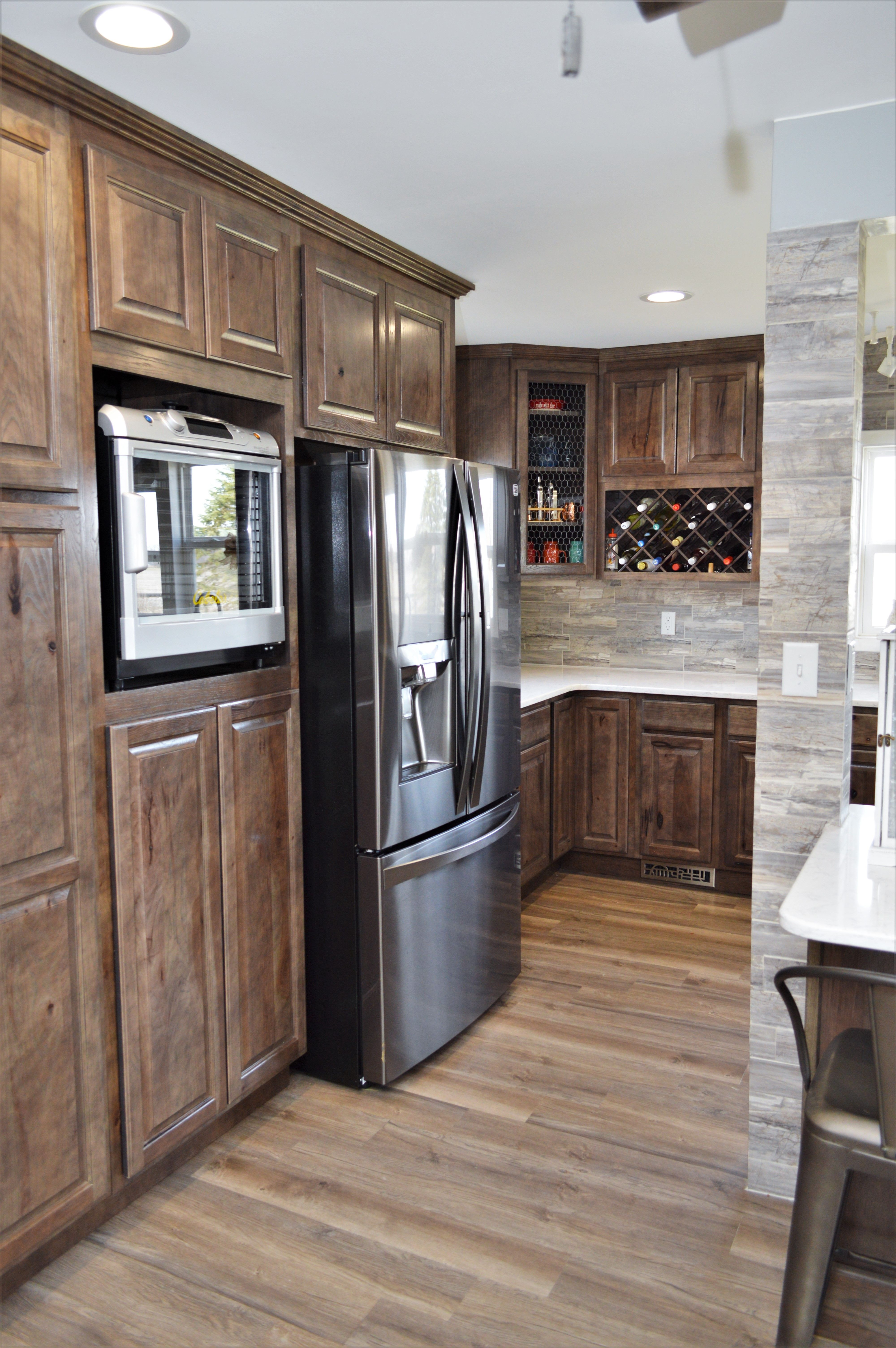 Superbe Baileyu0027s Cabinets, Haas Signature Collection, Rustic Hickory, Caraway  Finish (discontinued), Federal Square Door Style