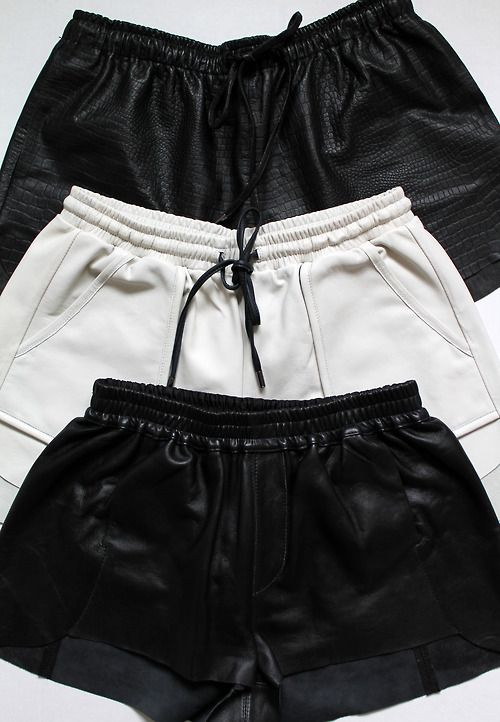i have an obsession with leather shorts