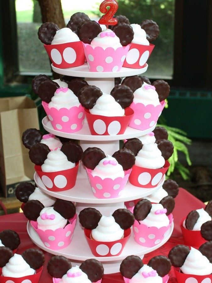 Mickey Mouse Birthday Minnie Mouse Birthday Cupcake