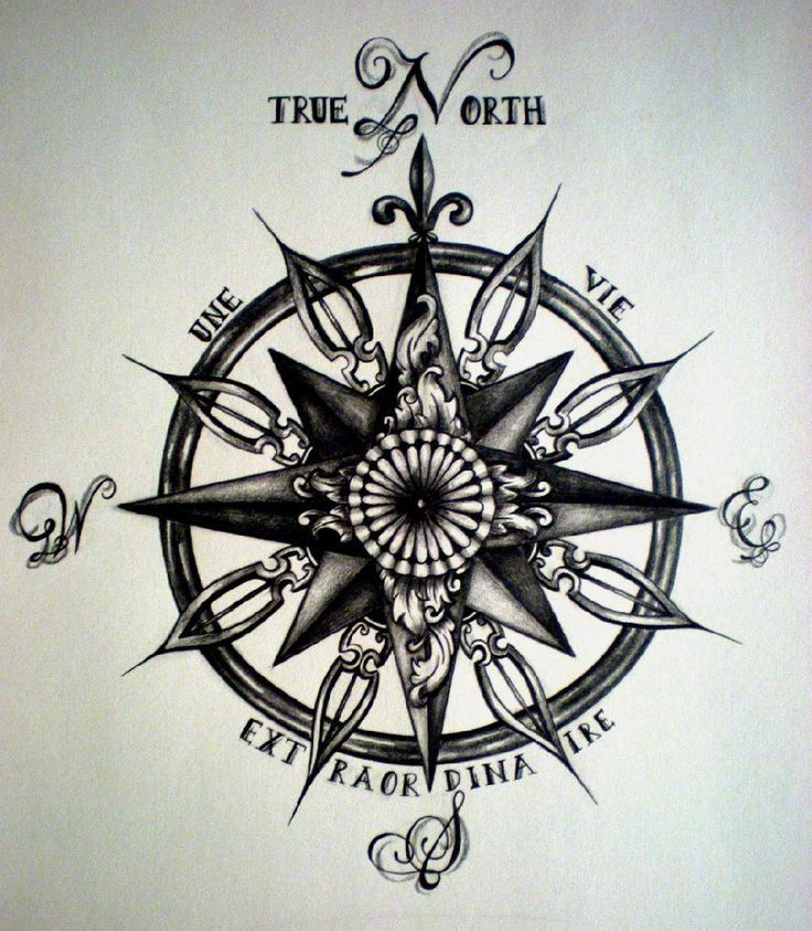 Image result for compass rose tattoo | tattoos | Pinterest | Compass ...