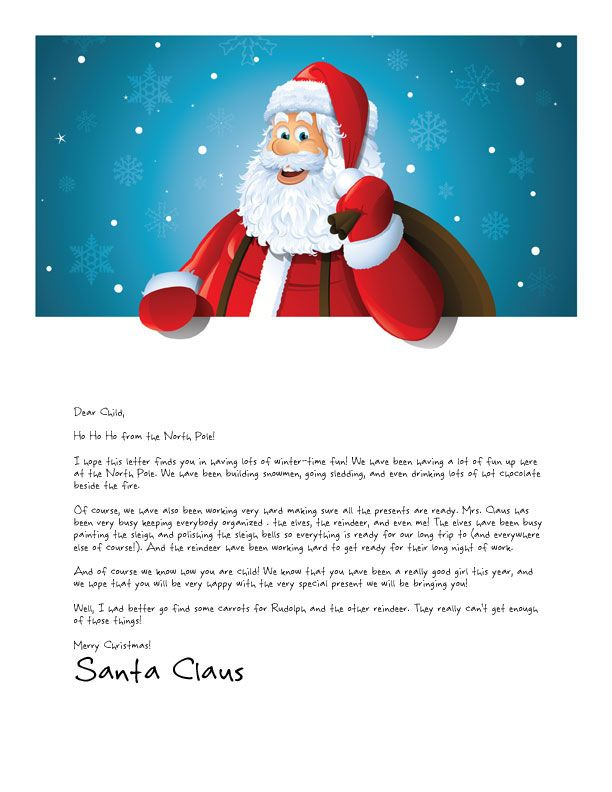 Printable Letter from Santa Over 20 designs available Letters