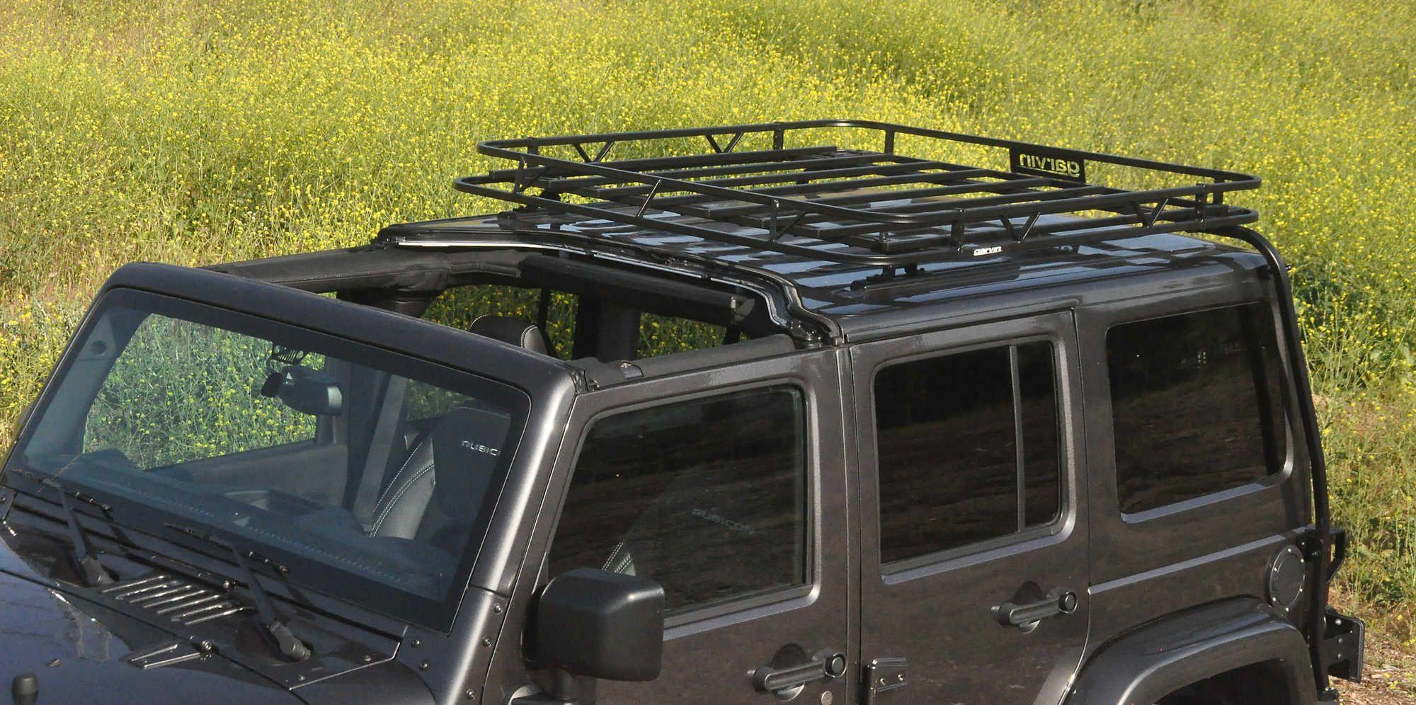 Garvin 44064 Specialty Rack For 07 17 Jeep Wrangler Unlimited Jk 4 Leaking Roof Door With Hard Top Quadratec