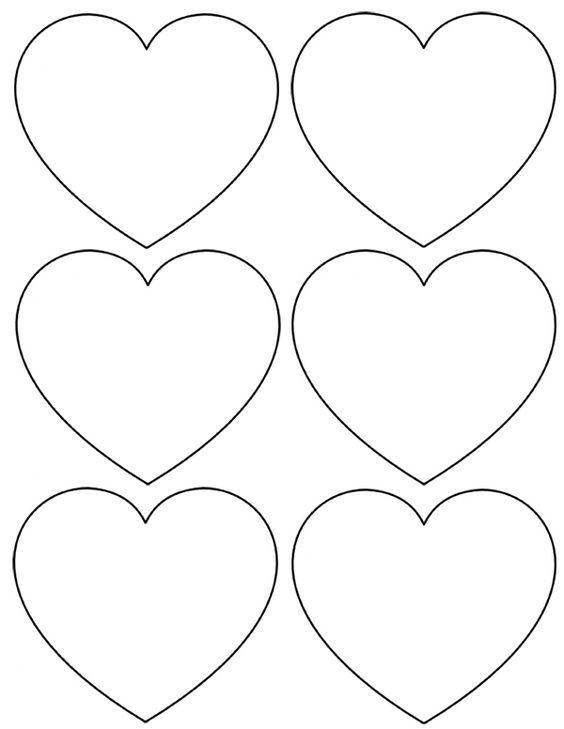 Extrem Gabarit coeur a imprimer: | Para imprimir | Pinterest | Gabarit  ZL98