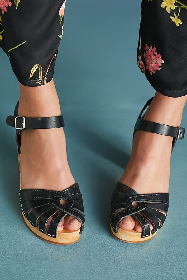 Swedish Hasbeens Fredrica Heeled Clogs | Heeled clogs, Clogs and Summer  clothing