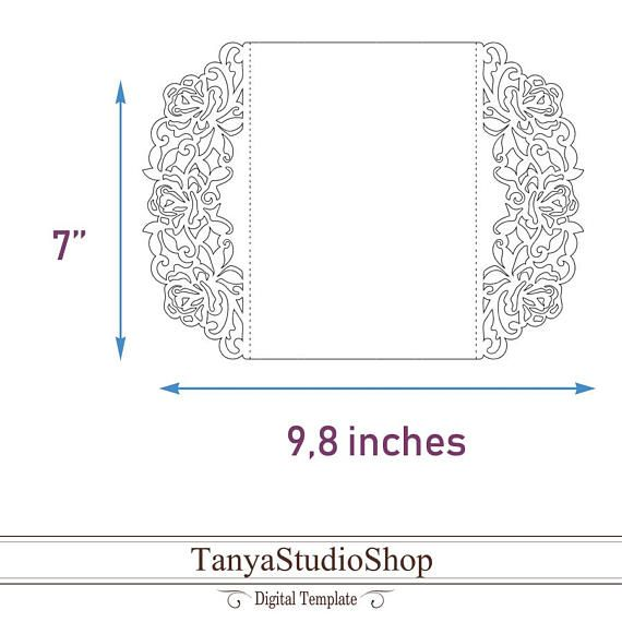 Gate-fold invitation template SVG DXF ai CRD eps Laser   Boxes and ...