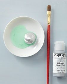 """Scratch-off""paint (like on lottery tickets) - one part dish soap, two parts acrylic craft paint. who knew!?"