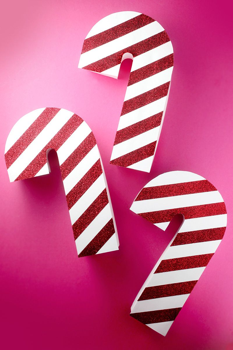Candy Cane Box Templates And Instructions Cupcakes Inside