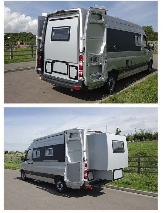 Motorhome With Slide Out Rear Section This Idea For A Smaller SUV Van Also