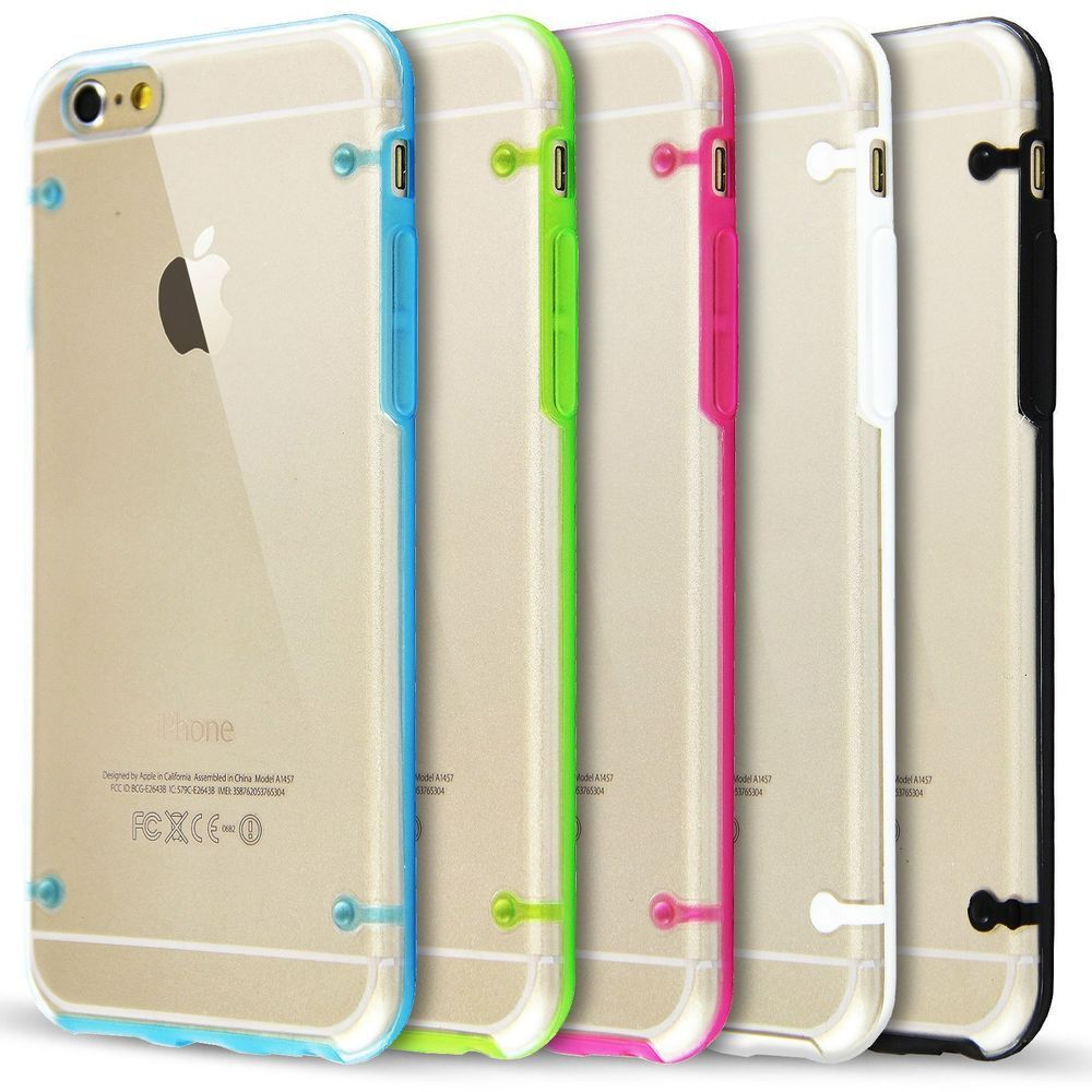 Ultra Thin Clear Crystal Soft Tpu Hard Case Cover For Apple Iphone 6 Shining Samsung Galaxy S6 Plus 55