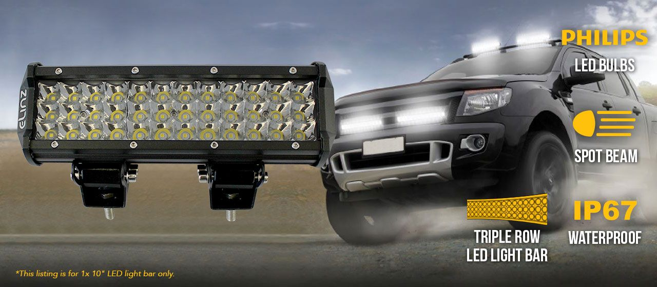 4wd Light Bars 10 led work driving light bar 3 rows philips spot offroad 12v 24v 10 led work driving light bar 3 rows philips spot offroad 12v 24v truck 4wd audiocablefo