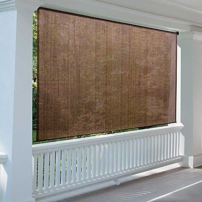 Roll Up Solar Shade 6 W X 6 L Pebble Beach Improvements By Improvements 79 99 Beaded Pull Cord Allows Porch Curtains Patio Shade Screened Porch Curtains
