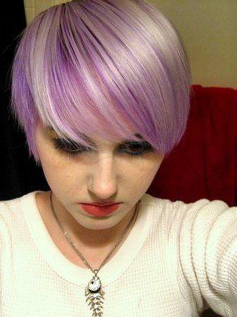 purple and white hair via teaandtoffee