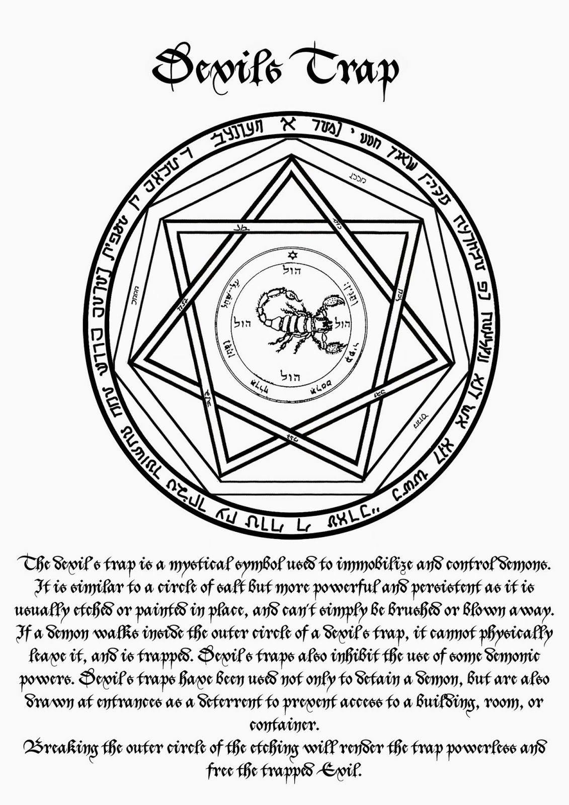 Ceremonial Magick Ceremonial Magick Devils Trap Spells