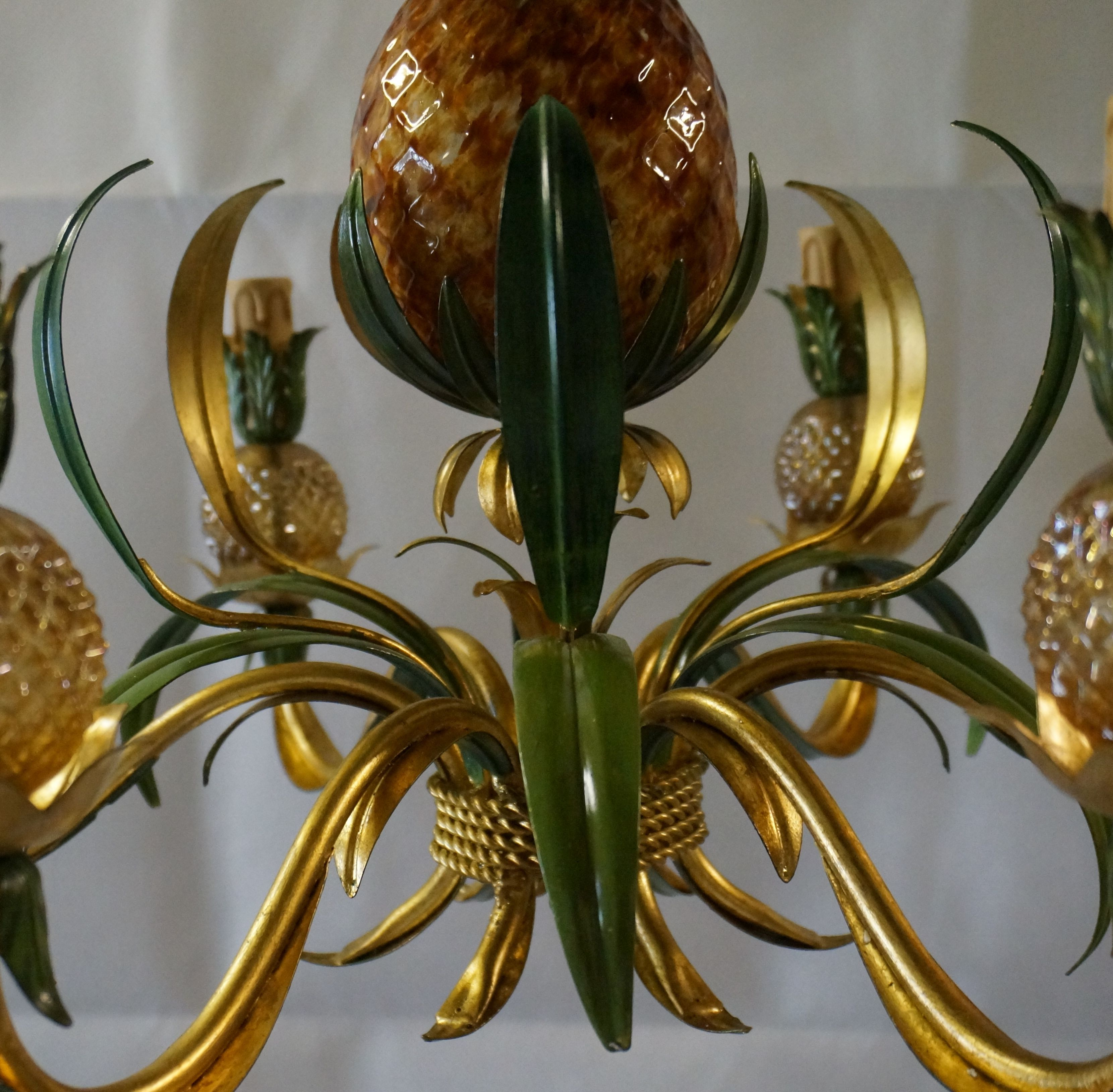 Murano glass pineapple chandelier This is just a small section of