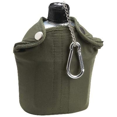 Outdoors Fun-32oz Aluminum Canteen with Cover and Cup take this camping, hiking, riding,hunting whenever you need to quench your thirst, retails for over thirty bucks. TODAY-$23