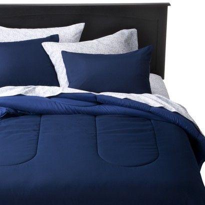 Room Essentials Reversible Solid Comforter Twin Xl In Navy Blue 17 99 Room Essentials Comforters Blue Rooms