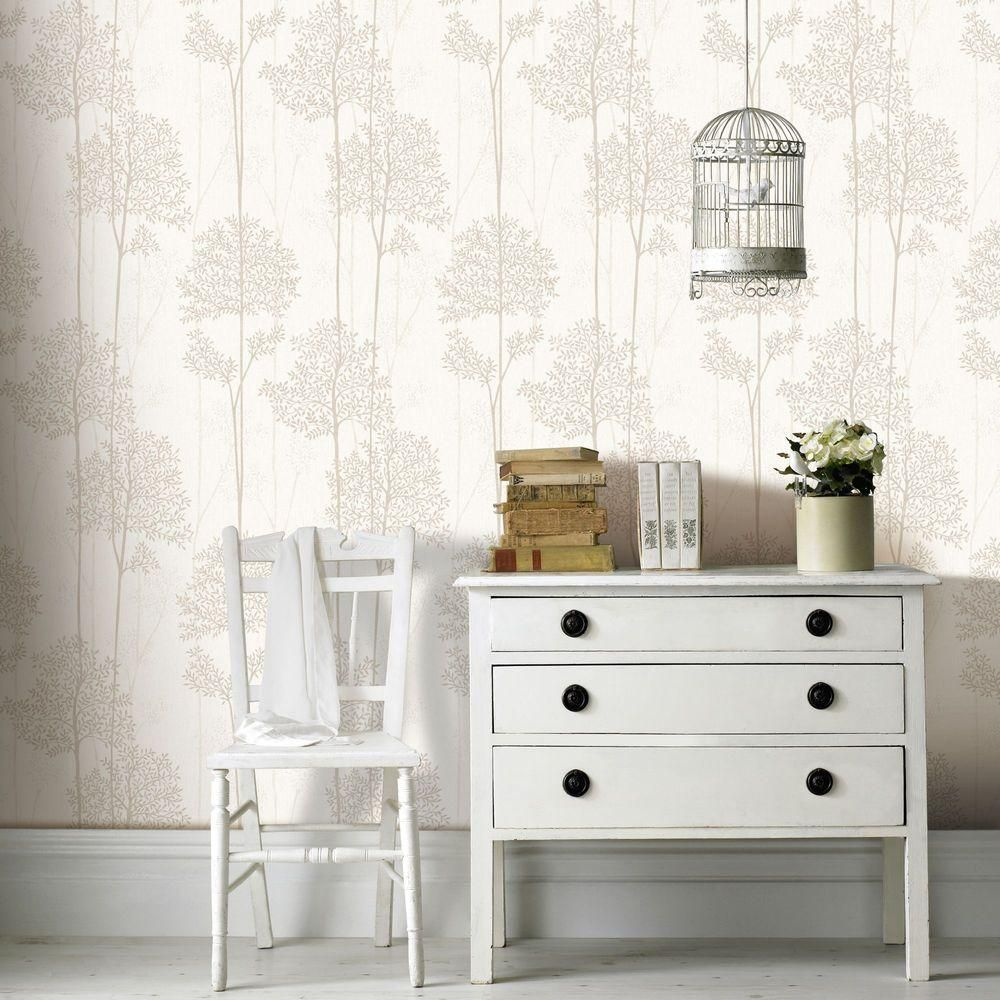 Graham Brown Eternal Gray Vinyl Strippable Wallpaper Covers 56 Sq Ft 33 287 The Home Depot White And Silver Wallpaper Cream And Gold Wallpaper Grey Wallpaper