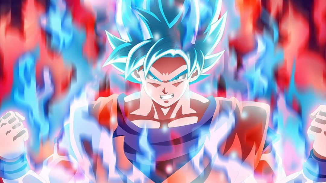 Pin On Personnages De Dragon Ball Blue wallpaper goku dragon ball super