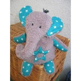 Elefant Benje sitzend, Nähset