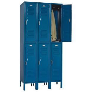 Buy Two Tier 3 Wide Solid Door Metal Lockers 12 X 15 X 72 At S S Worldwide Solid Doors Metal Lockers Lockers
