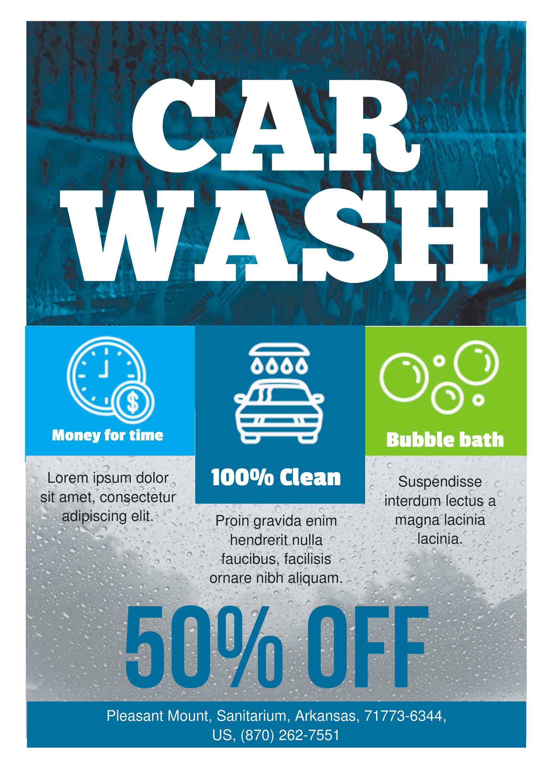 Car Wash A5 Promotional Flyer       Premadevideos Com  A5