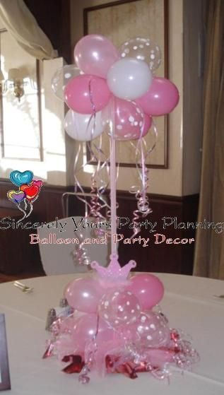 Princess balloon centerpieces sweet 16 | Balloon Centerpieces