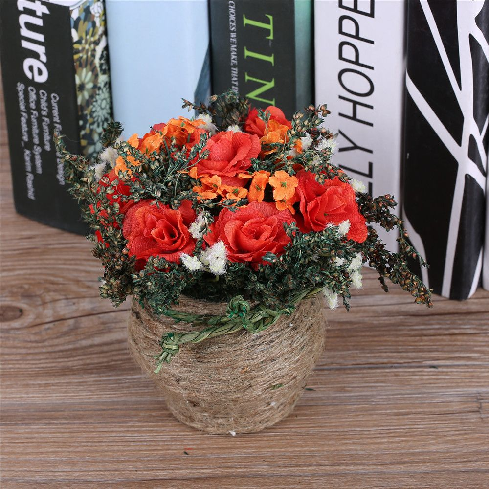 New Arrival Cheap Artificial Flowers Arrangement Decorative Potted